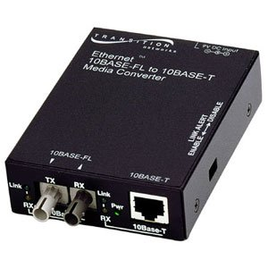 Transition Networks E Tbt Frl 05 10Base T To 10Base Fl Ethernet Media Converter   1 X Rj 45   1 X St   10Base T  10Base Fl   Wall Mountable