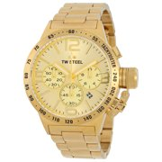 Canteen Chronograph Sunray Gold Dial 45mm Mens Watch CB103