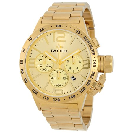 Tw Steel Canteen Chronograph Sunray Gold Dial 45Mm Mens Watch Cb103