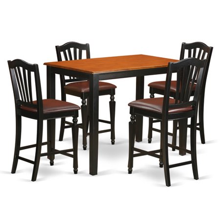 East West Furniture Yarmouth 5 Piece Counter Height Pub