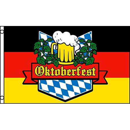 OKTOBERFEST FLAG, 3'x5' sign poster banner Bavaria, Germany, BRAND NEW 3'x5' (90cm x 150cm) 100% POLYESTER INDOOR/OUTDOOR FLAG. By FlagsImp,USA - Oktoberfest Sign