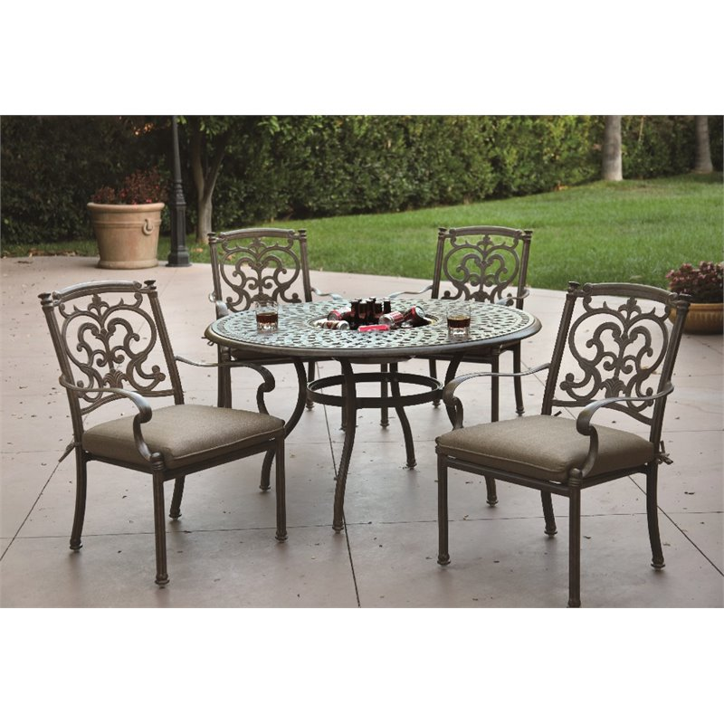 Click here to buy Darlee Santa Barbara 5 Piece Patio Dining Room Set with Seat Cushion by Darlee.