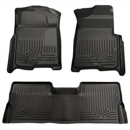 Husky Liner 98331 Weatherbeater Series Thermoplastic Olefin Black Front & 2Nd Seat Floor Liners - image 2 of 2