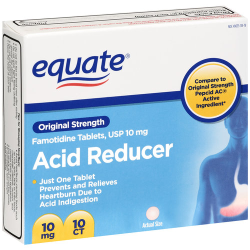 Equate Original Strength 10mg Acid Reducer Tablets, 10ct