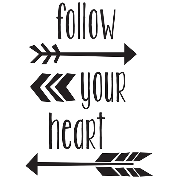 WallPops Follow Your Heart Wall Quote