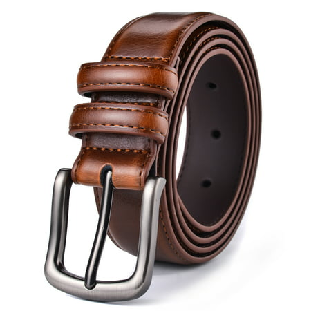 Mens Belt, Xhtang Genuine Leather Dress Belt Classic Casual 1 1/4