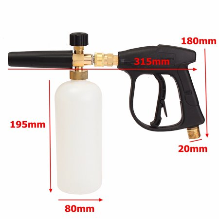 3000 PSI 200 Bar High Pressure Washer with 1L Lance Bottle Car Cleaning Water Gun Nozzle Sprayer - image 2 of 7