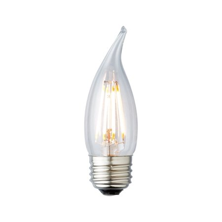 2W LED Filament Bulb, Antique Style Chandelier Bulb, Dimmable, Chandelier, 2400K,  LifeBulb 10110