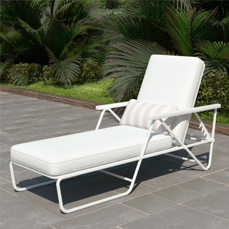Novogratz Poolside Gossip Collection, Connie Outdoor Chaise Lounge, Multiple - Collection Chaise