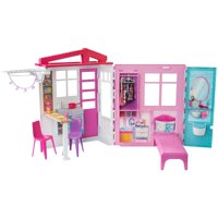 Barbie Fully Furnished Close & Go House with Themed Accessories