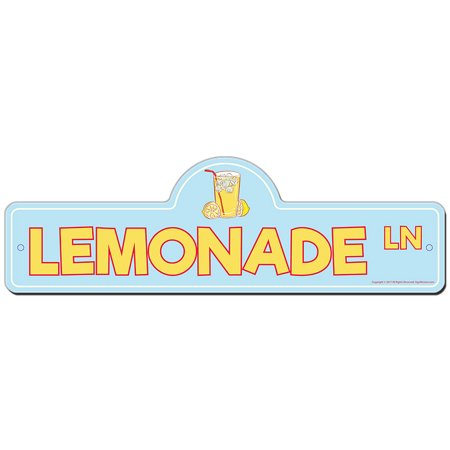 Lemonade Street Sign | Indoor/Outdoor | Funny Home Decor for Garages, Living Rooms, Bedroom, Offices | SignMission personalized gift