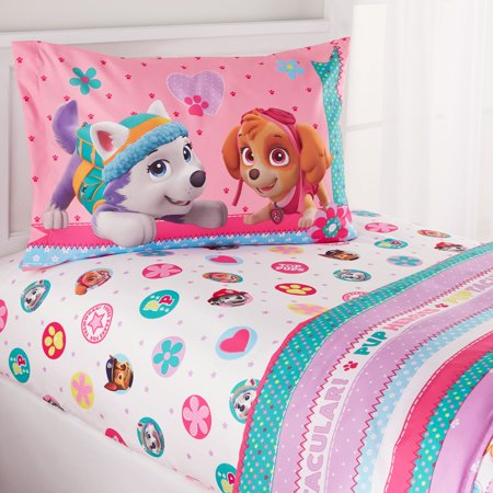 PAW Patrol Sheet Set, Kids Bedding, Pink, Best Pup