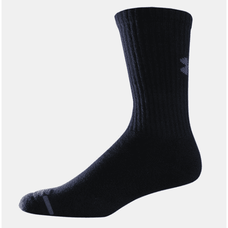 8ec2110b6 Under Armour - Under Armour Men's Charged Cotton Crew Socks (6 Pair),  Black, X-Large - UA 3879-BLK-XL - Under Armour - Walmart.com