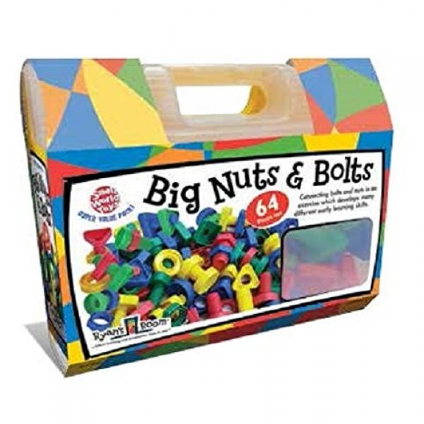 Small World Toys Ryan's Room Educational Big Nuts and Bolts (64-Piece) by