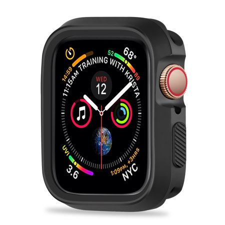 huge discount ac499 27292 For Apple Watch Series 4 Case 44mm, Rugged Protective Case Shockproof  Bumper Screen Protector Cover Replacement for Apple Watch Series 4  (44mm,Black)
