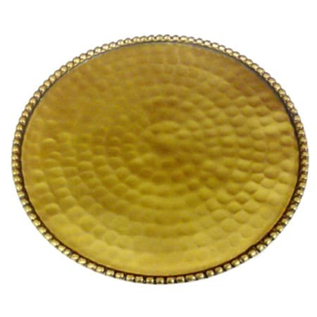 Candle Plate - RUCCI 300 Hammered Gold Plate Candle Holder