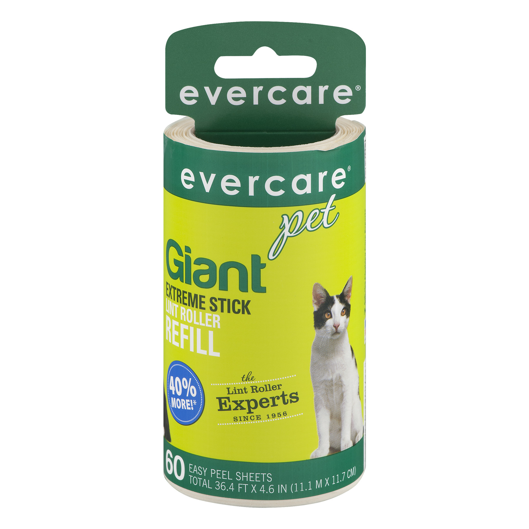 Evercare Pet Giant Extreme Stick Lint Roller Refill - 60 Sheets, 60.0 CT
