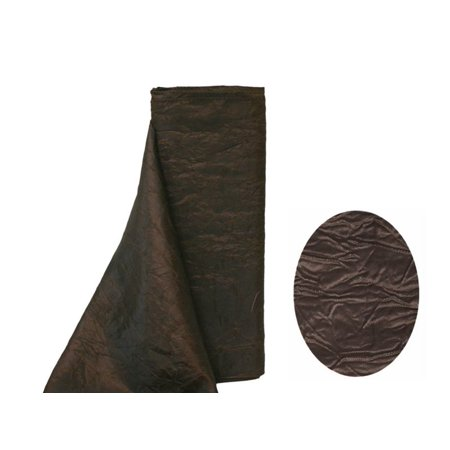 "12"" x 10 Yard Taffeta Crinkle Fabric Bolt Wedding Party Decor-Sewing DIY Crafts Fabrics Chocolate Brown"