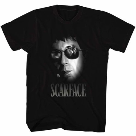 Scarface Movies Aviators Adult Short Sleeve T Shirt](Scarface Halloween)