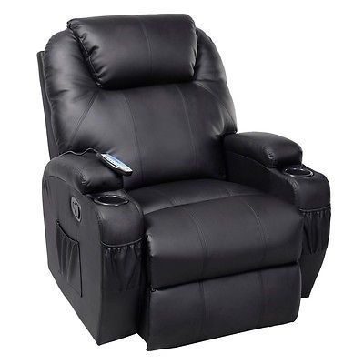 Ergonomic Heated Mage Recliner Sofa Chair Deluxe Lounge Executive W Control