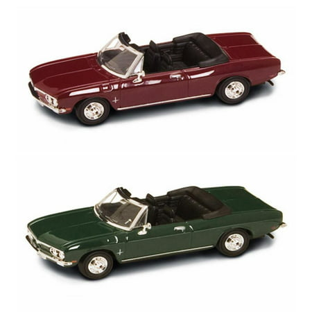 1969 Chevrolet Corvair Monza Convertible Diecast Car Package - Two 1/43 Scale Diecast Model Cars ()