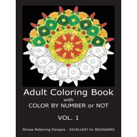 Adult Coloring Book With Color By Number Or Not Other