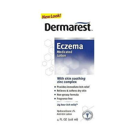 Eczema Relief (Dermarest Eczema Medicated Lotion, Itch Relief Hydrocortisone 1% - 4 oz)