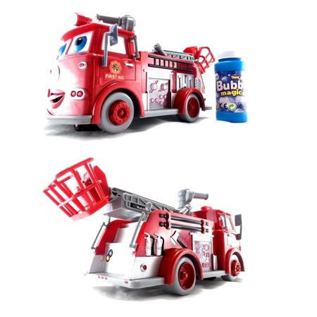 - Fire Engine Truck Bubble Machine Blower Solution Birthday Party Bubbles Toy