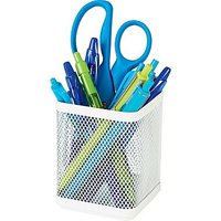 Pencil Cup, Hanging White Mesh, Pencil cup for your office, craft or school supplies By Staples