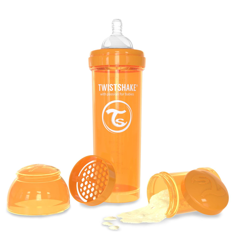 Twistshake Anti-Colic Baby Bottle & Accessories 330ml 11oz Orange Sunbeam by Twistshake