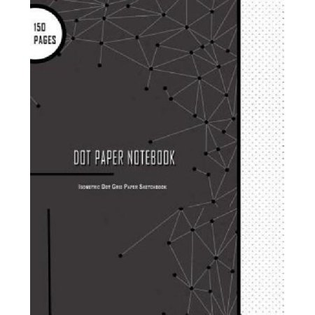 dot paper notebook isometric dot grid paper sketchbook large 150 pages 85