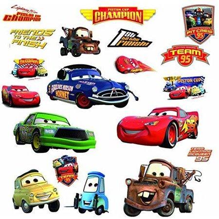 (DISNEY CARS 19 BiG Piston Cup Wall Stickers Lightning McQueen Room Decor Decals)