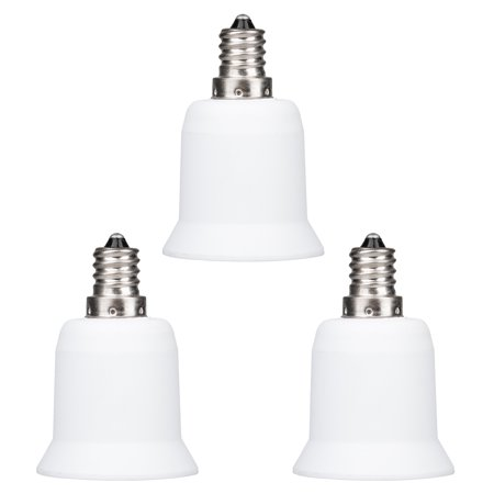 TSV Light Bulb Socket Adapter Candelabra E12 to Medium Base E26 Screw (1/2/3/5/6 Pack)