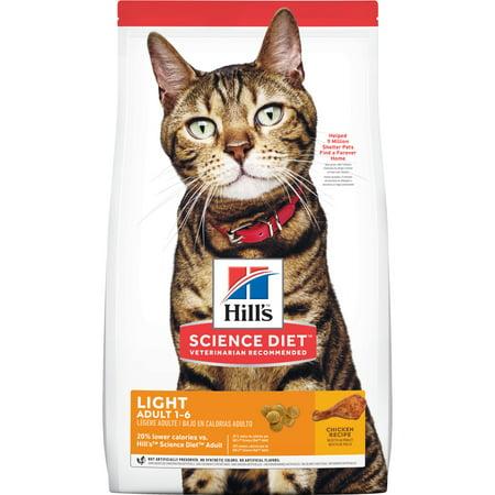 Hill's Science Diet Adult Light Chicken Recipe Dry Cat Food, 16 lb