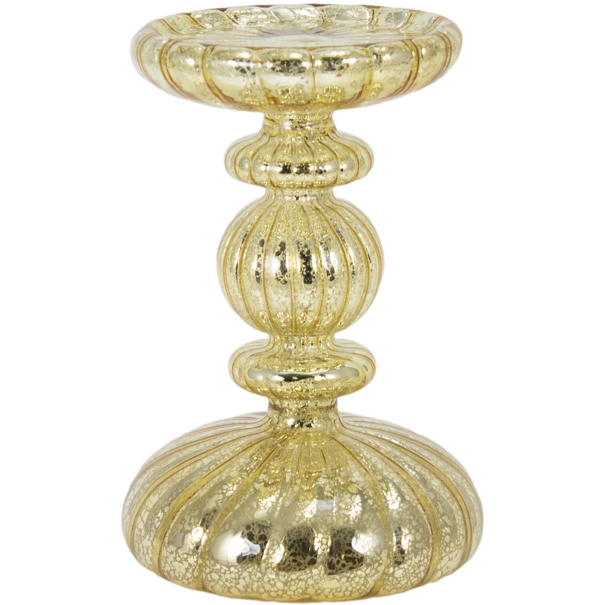 Holiday Time Lighted Gold Candle Holder