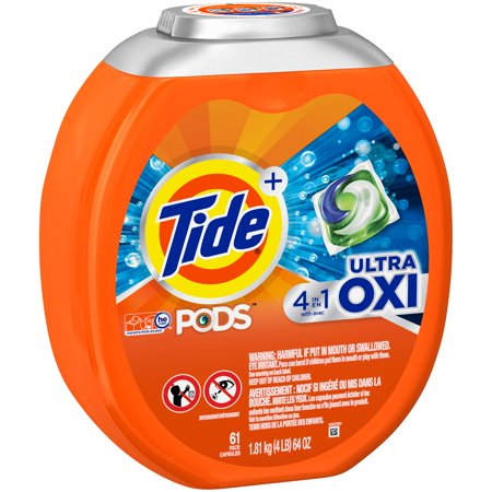 Tide PODS Laundry Detergent Pacs Ultra Oxi - 61ct