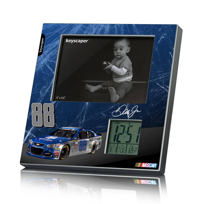 Dale Earnhardt Jr 88 Nationwide Picture Frame Clock by Keyscaper by Keyscaper