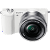 Sony Alpha a5100 Mirrorless Camera w/ 16-50mm lens - White Capture that crucial moment with ultra-fast autofocusing, 179 AF points and 6fps. This lightweight camera delivers 24.3MP of detail even in low light, and you can share photos right to your smartphone through built-in WiFi. Record Full HD video or flip over the 180-degree tilt screen for perfectly framed selfies.