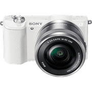 Sony Alpha a5100 Mirrorless Camera w/ 16-50mm lens - White
