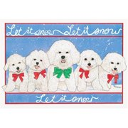 Pipsqueak Productions C497 Holiday Boxed Cards- Bichon Frise