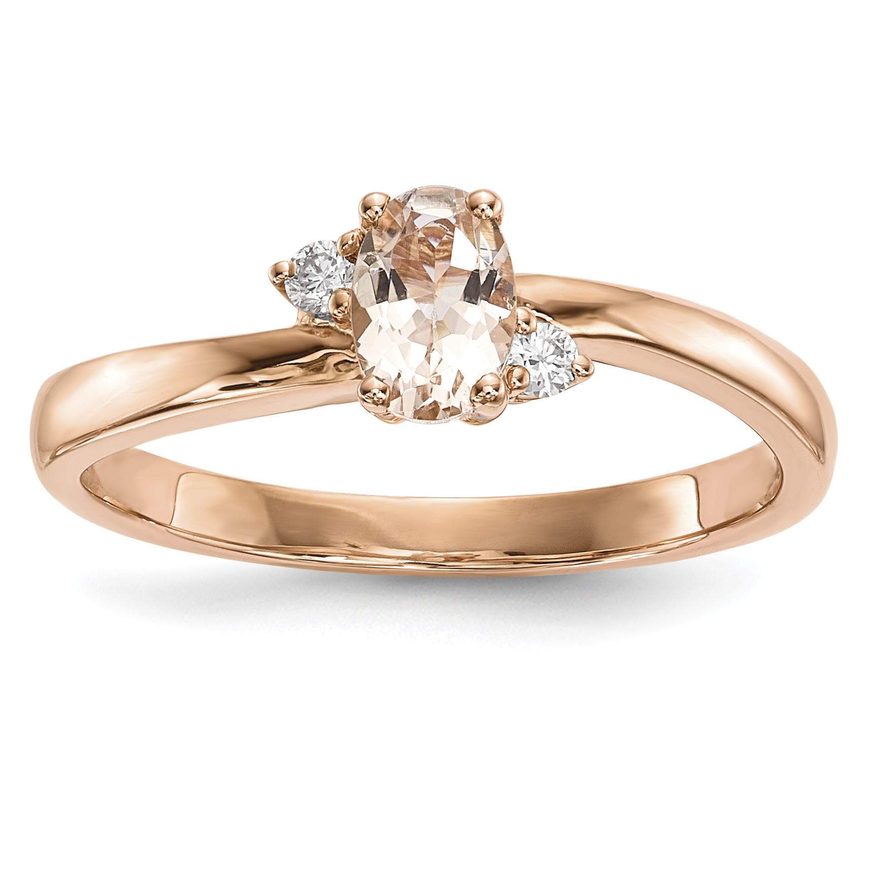 ICE CARATS 14kt Rose Gold Pink Morganite Diamond Band Ring Size 7.00 Gemstone Fine Jewelry Ideal Gifts For Women Gift... by IceCarats Designer Jewelry Gift USA