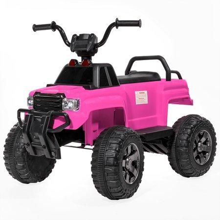 ihubdeal 12V Battery Powered Kids Ride-On ATV Quad Monster w/ MP3 Wheel Suspension, PINK