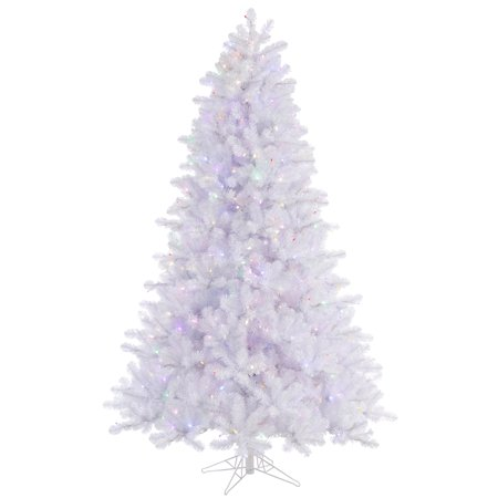 vickerman pre lit 65 crystal white pine artificial christmas tree led multicolor