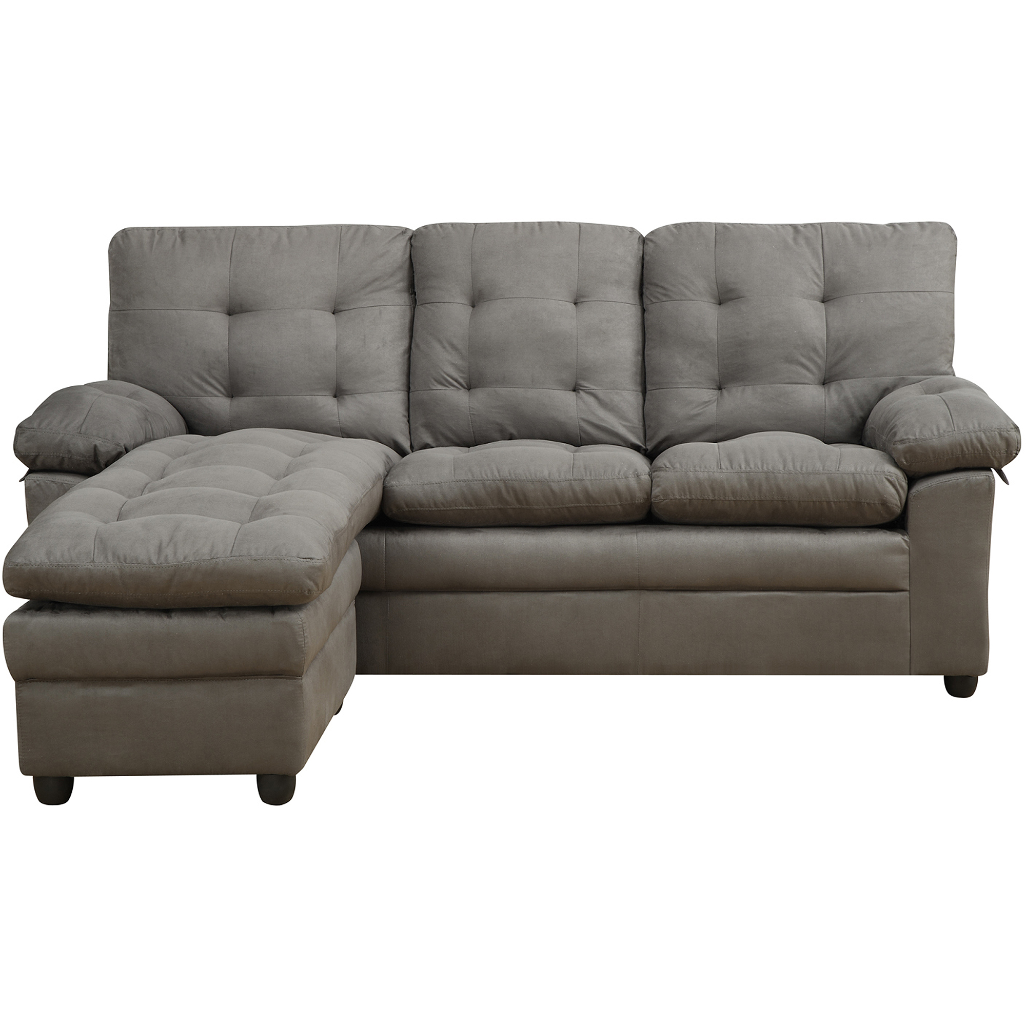 Buchannan Reversible Microfiber L Sectional, Multiple Colors