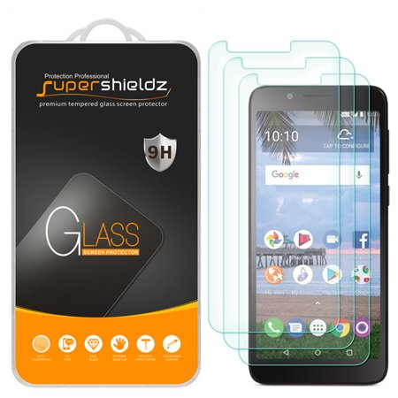 [3-Pack] Supershieldz for TCL LX (A502DL) Tempered Glass Screen Protector, Anti-Scratch, Anti-Fingerprint, Bubble (Sidekick Lx Screen Protector)