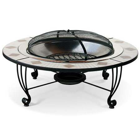 Blue Rhino 45 Quot Outdoor Fire Pit Stainless And Ceramic
