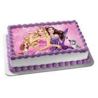 Barbie Princess and the Popstar Edible Frosting Cake Image Cake Topper*