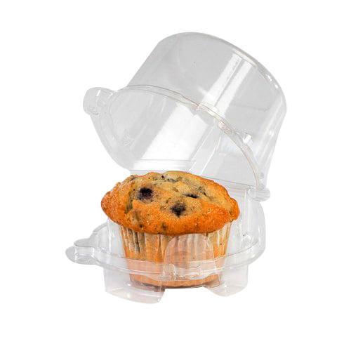 Lindar Hinged Lid Single Serve Large Cupcake/Muffin Conta...