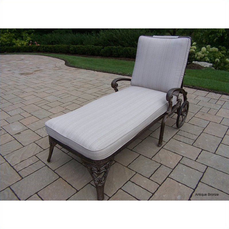 Oakland Living Mississippi Chaise Lounge with Cushion