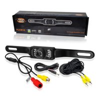 License Plate Rear View Camera-Built-in Distance Scale Lines,Night Vision LEDs w/ 420 TVL Resolution-Pyle PLCM10